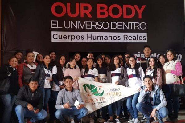 "Estudiantes del Cecytem de Salvador Escalante, visitan ""Our Body"""