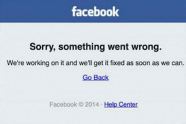 Facebook registra falla